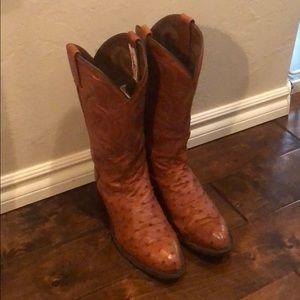 Tony Lama Men's Ostrich Boots